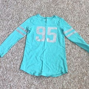 Long sleeve teal shirt